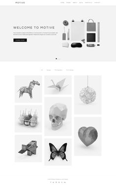 Motive - Minimal Portfolio Template  @creativework247