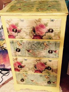 my decoupaged chest of drawers