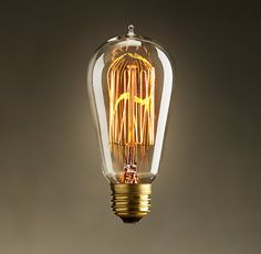 1910 Squirrel-Cage Filament Bulb for Brian's new industrial lamp.