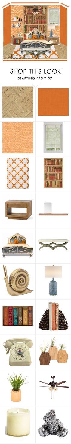 """Orange"" by silvia-esvicode on Polyvore featuring interior, interiors, interior design, Casa, home decor, interior decorating, York Wallcoverings, Scion, Jaipur e Kate Spade"