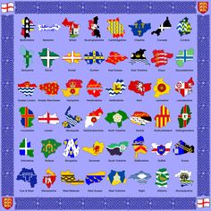 The Counties and Flags of England by golborne-identity