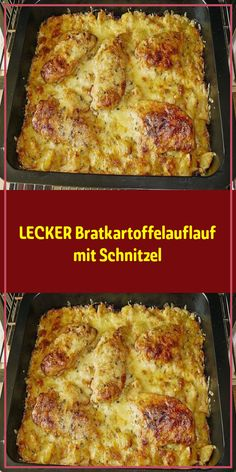 Delicious fried potato casserole with schnitzel oven Ingredients: 500 g potato (s) 20 g margarine 1 onion (s) 20 g ham, diced salt and pepper 300 g pork schnitzel thinly sliced g fat (e. Pork Schnitzel, Pork Cutlets, Potato Casserole, Casserole Recipes, Crockpot Recipes, Breakfast Potatoes, Breakfast Casserole, Mexican Breakfast Recipes, Brunch Recipes