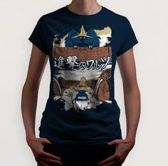 Attack on Waltz  (Final Fantasy / Attack on Titan) t-shirt by LimitBreaks on Etsy