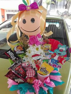 Balloon Lanterns, Balloons, Stone Crafts, Ideas Para, Diy Gifts, Bouquet, Basket, Baby Shower, Diaper Cakes