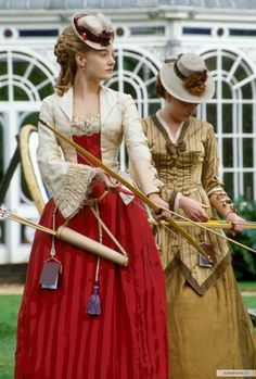 Daniel Deronda #historical #costume  This makes me want to get out my bow. Maybe I'll make myself this type of archery outfit.