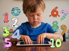 Little Digits is a fun educational app that teaches children about numbers by putting a new spin on finger counting. Using the iPad multi-touch screen, Littl. Teaching Tools, Teaching Kids, Preschool Learning, Toddler Learning, Kindergarten Math, Fun Learning, Learning Activities, Kid Picks, Learn To Count