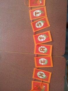 Herfst slinger gemaakt met stansmachine