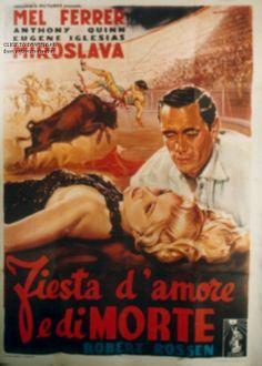 http://www.notrecinema.com/images/cache/la-corrida-de-la-peur-affiche_303593_31116.jpg FIESTA D'AMORE E DI MORTE (THE BRAVE BULLS),USA,1951,drammatico, regia Robert Rossen, prod. Columbia, distr. CEIAD, cast Mel Ferrer, Anthony Quinn, Miroslava Stern, Eugene Iglesias, Jose Torvay, Charlita. Misure 140x200cm, 4F,autore #alfredocapitani