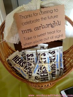 Bridal Shower Favor ideas - who doesn't love chocolate?