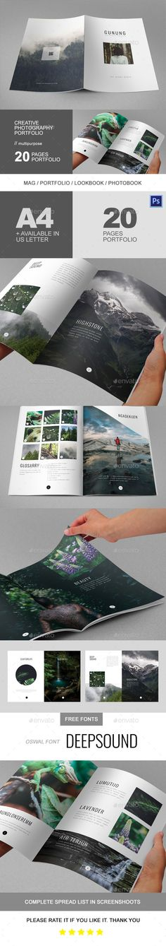 Creative Photography Portfolio — Photoshop PSD #template #indie • Download ➝ https://graphicriver.net/item/creative-photography-portfolio/19184243?ref=pxcr