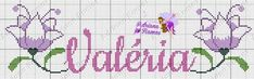 Yuri, Female Names, Monograms, Cross Stitch Embroidery, Punto Cruz, Names, Lyrics, Dots, Manualidades