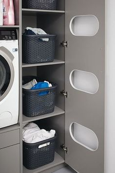 C's pantry is the answer to a tidy room. - Schüller C's pantry is the answer to a tidy room. This … -Schüller C's pantry is the answer to a tidy room. - Schüller C's pantry is the answer to a tidy room. Modern Laundry Rooms, Laundry Room Layouts, Large Laundry Rooms, Laundry Room Remodel, Laundry Room Design, Laundry Decor, Laundry Baskets, Closet Remodel, Laundry Tubs