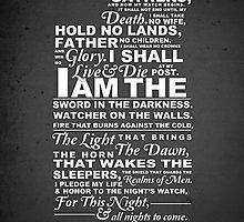 Nights Watch Oath - Bing Images