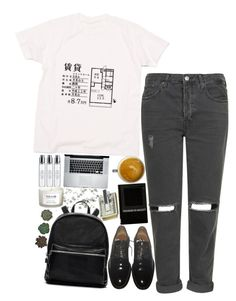 """""""Karina"""" by sisistyle ❤ liked on Polyvore featuring CO, Topshop, Givenchy, Elizabeth and James, M-Clip, NEOM Organics and Byredo"""