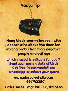 Black tourmaline hanging rock protection from negativity & negative people