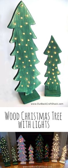 I'd like to have several of these wood Christmas trees by my front door! Wood Christmas Tree with lights; Christmas Decorations; Distressed Wood; Christmas Decor, Christmas porch decor, Rustic Christmas tree #ad