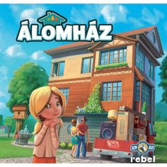 Dream Home, REBEL.pl/Asmodee, 2016 — front cover (image provided by the publisher) Board Games For Two, Board Game Box, Family Board Games, Games For Kids, Games Box, Card Games, Jacuzzi, Rebel, Huge Bedrooms