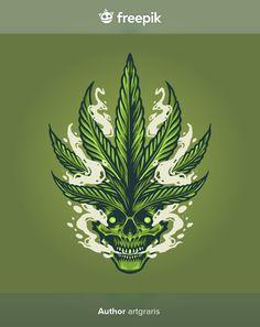 Skull smoke illustrations weed leaf mari... | Premium Vector #Freepik #vector #logo #poster #vintage #cartoon Weed, Native Symbols, Indian Skull, Skull Illustration, Skull Logo, Poster Vintage, Vintage Cartoon, Vector Free, How To Draw Hands