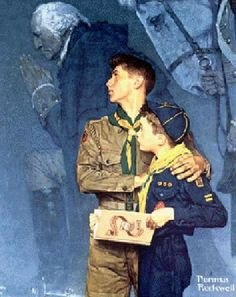 Norman Rockwell (1894 – 1978, American) Both of my grandsons are scouters. Oldest one a Eagle scout other one working on his.