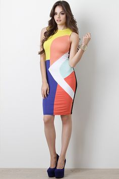 Stay stylish and fashion forward in this Mod Philosophy Dress! Tight Dresses, Sexy Dresses, Girls Dresses, Curvy Fashion, Fashion Models, Womens Fashion, Fashion Trends, Philosophy Dresses, Girls In Mini Skirts