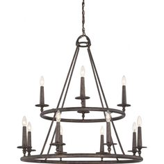 Buy the Quoizel Malaga Direct. Shop for the Quoizel Malaga Voyager 12 Light 2 Tier Wide Candle Style Chandelier and save. Chandelier Shades, Chandelier Lighting, Candle Chandelier, Gothic Chandelier, Circular Chandelier, Pendant Lights, Malaga, Quoizel Lighting, Wagon Wheel Chandelier