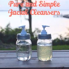 Homemade DIY recipes for face wash and facial toner using only pure and simple ingredients and essential oils!