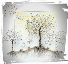Wire Sculpture Trees www.thestoneartgallery.com Facebook: The Stone Art Gallery