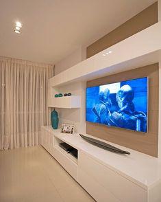53 Ideas for home theater planejado escandinavo – Rahul Jain – Hometheaters Home Living Room, Living Room Decor, Living Room Tv Unit Designs, Modern Tv Wall Units, Modern Tv Cabinet, Tv Wall Decor, Home Interior Design, Interior Shop, Interior Sketch