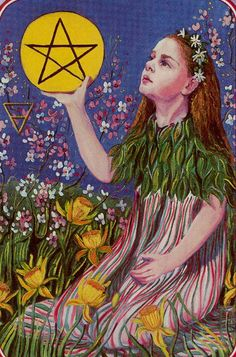Page of Pentacles - Spiral Tarot by Kay Steventon