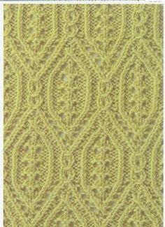 Lace Knitting Stitch #17 | Lace Knitting Stitches
