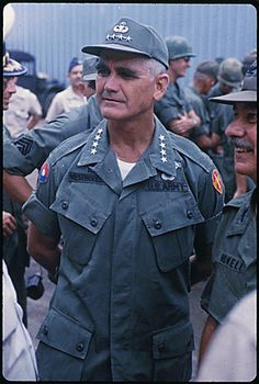 General Westmoreland Vietnam War | Public Domain: General William Westmoreland in Vietnam by Robert C ...