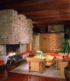 Lovness studio house. 1955. Stillwater, Minnesota. Usonian Style. Frank Lloyd Wright