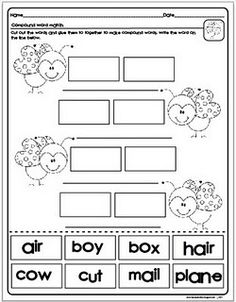 Compound Words Cut and Paste Freebie!