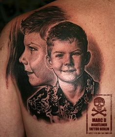 Potrait Black and White Tattoo ink
