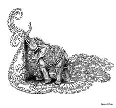 Artist Bennett Klein Doodle Coloring pages colouring adult detailed advanced… Colouring Pics, Doodle Coloring, Coloring Books, Coloring Sheets, Adult Coloring Book Pages, Animal Coloring Pages, Colorful Drawings, Colorful Pictures, Ganesha