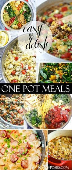 A post full of one pot skillet meals that will save you time and cleanup. These one pot skillet meals are great for busy week nights for a quick pot meal