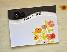 Thank You Bouquet Card by Maile Belles for Papertrey Ink (March 2015)