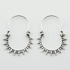 HOOP EARRINGS BALI STYLE on 925 STERLING SILVER NOW $19.95aus .....................With FREE SHIPPING WORLD WIDE.. SAVE THIS PIN OR BUY NOW FROM LINK HERE http://cgi.ebay.com.au/ws/eBayISAPI.dll?ViewItem&item=182484872980&ssPageName=ADME:L:LCA:AU:1123#ht_4284wt_1163