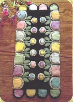 Springtime Garden felted wool applique quilt pattern by Cath's Pennies Designs