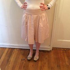 Light pink Zara skirt Front pleated a line skirt Zara Skirts