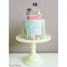 Woezel & Pip Ocean First Birthday Cake