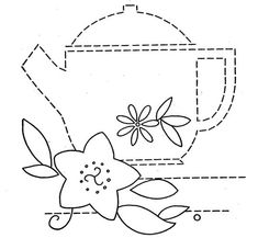 tea towels to embroider | Hand Embroidery Pattern 3200 Dishes Flowers for Tea Towels 1940s ...