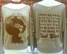 Soul Sista Flowy OffShoulder LongSleeve by ThreeLittleBirdsTees, $35.95