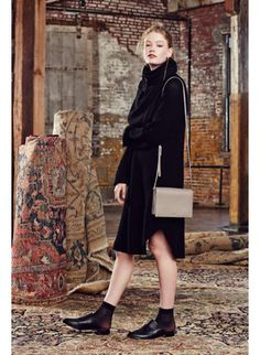 Bianca Dress, Euler Sweater, Calisch Cross Body Bag Wilfred Fall '14, available exclusively at @Aritzia