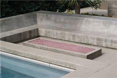 Board Formed Fire Pit  Modern Landscaping  Z Freedman Landscape Design  Venice, CA