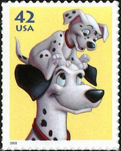 42c Pongo and Pup single from The Art of Disney: Imagination Issue, 2008.