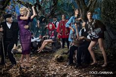 Dolce & Gabbana enlists supermodels Claudia Schiffer and Bianca Balti joined by Kate Bogucharskaia and Nastya Sten for the fairytale Fall Winter advertisement lensed by Domenico Dolce. Claudia Schiffer, Dolce & Gabbana, Bianca Balti, Fashion Advertising, Advertising Campaign, Cara Delevingne, Alexa Chung, Estilo Ivy, Elle Blogs