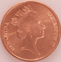 1/2 Penny #Gran #Bretagna - 1971 E ritratta la Regina Elisabeta II.