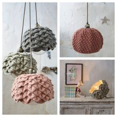knitted lampshades from lespetitsbohemes