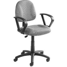 Boss Upholstered Task Chair with Loop Arms, Multiple Colors, Gray